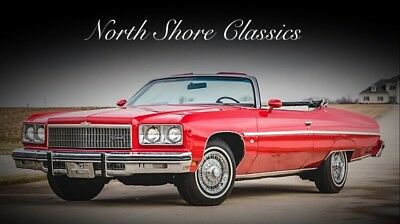 1975 Caprice -CLEARANCE PRICE-CONVERTIBLE-1 OF 8349-PS PB PW PT Chevrolet Caprice Classic Red with 66,245 Miles, for sale!