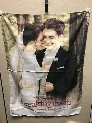 Twilight Saga Breaking Dawn Fabric Poster Banner- Edward and Bella's Wedding