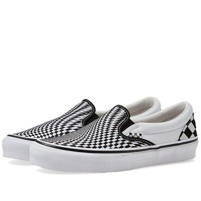 End. X Vans Og Classic Slip On Lx 'Vertigo' Black & True White Uk 6