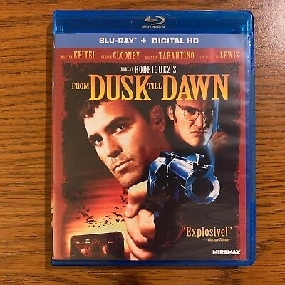From Dusk Till Dawn (Blu-ray Disc, 2014) George Clooney - LIKE NEW, NEVER USED