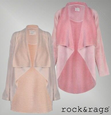 418c07855c8 Ladies Designer Rock And Rags Long Sleeves Fleece Waterfall Robe Pyjamas  8-22