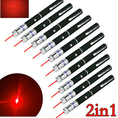 Lot 20 Miles Red Laser Pointer Pen Star 3 AAA Mini Portable Lazer Pet Cat Toy