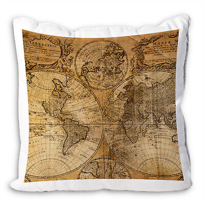 Retro Vintage World Map Cool Scenic Scatter Sofa Cushion Covers Pillow Case