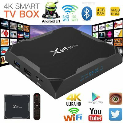 X96 Max Android 81 Amlogic S905x2 4g64g Quad Core Tv Box Bluetooth