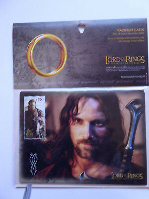 Lord of the Rings, 6 Maximum Cards, NZ Post, 2003