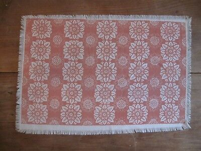 """Folly Cove Designers Placemat/Print """"African Violets"""" Peggy Norton 1959 PURPLE"""
