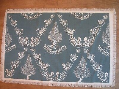 """Folly Cove Designers Placemat/Print """"Ducks"""" Dorothy Norton RED"""