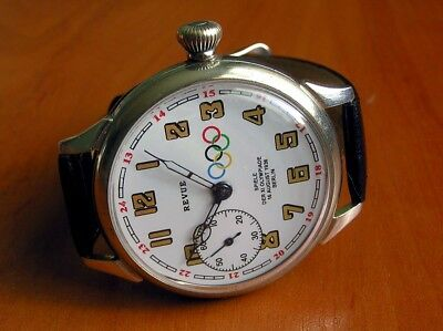 REVUE VINTAGE WATCH Gédéon Thommen SWISS ORIGINAL MOVEMENT OLYMPIC DIAL