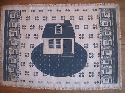 """Folly Cove Designers Placemat/Print """"Story and a Half"""" Peggy Norton 1958"""