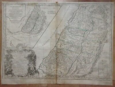 HOLY LAND by VAUGONDY DELAMARCHE XVIIIe CENTURY LARGE ANTIQUE ENGRAVED MAP