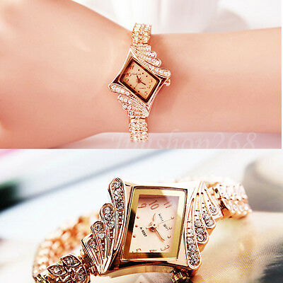 NEW Fashion WOMEN WATCH Crystal Quartz Rhombus Bracelet Bangle Wrist Watch Gift