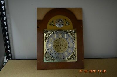 BALDWIN GRANDFATHER CLOCK DIAL with frame for Hermle movement ONLY for project