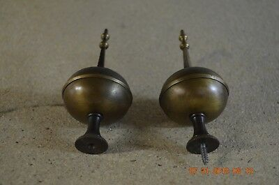 Grandfather Clock Light Brass Spire Finials Spire Set of 2 for project