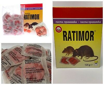 Mouse Rodent Mice Rat Killer Poison Bait –Pasta Sachets –Ratibrom