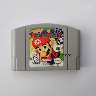 Nintendo N64 Game Mario Party Video Game Cartridge Console Card US/CAN Version