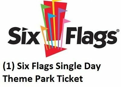 (1) Six Flags Single Day Theme Park Ticket (Any Park EXP 12/31/18) Fright Fest!!