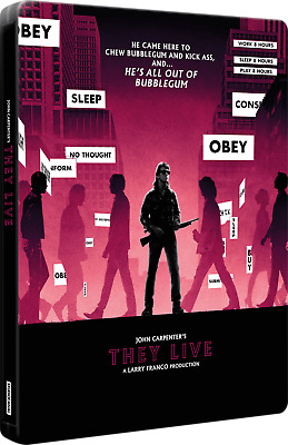 They Live - Limited Edition Steelbook (Blu-ray + 4K UHD) BRAND NEW!!