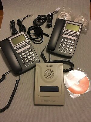ORCHID PBX206 Mini Business phone solution : Complete System, 4 x handsets