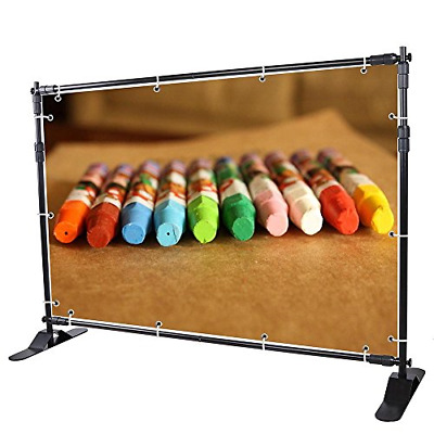 WinSpin 8' Step and Repeat Display Backdrop Banner Stand Adjustable Telescopic