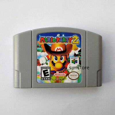 Nintendo N64 Game Mario Party 2 Video Game Cartridge Console Card US/CAN Version