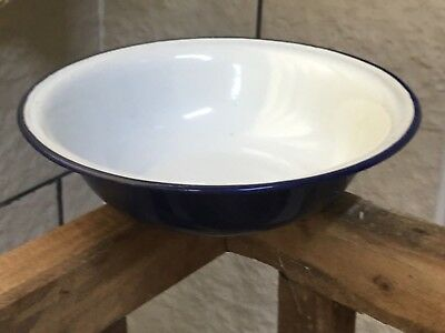 Antique Chinese Rare Blue enamel ware serving bowl