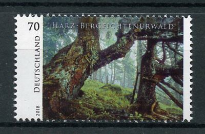Germany 2018 MNH Harz Bergfichtenurwald Mountains Forest 1v Set Trees Stamps