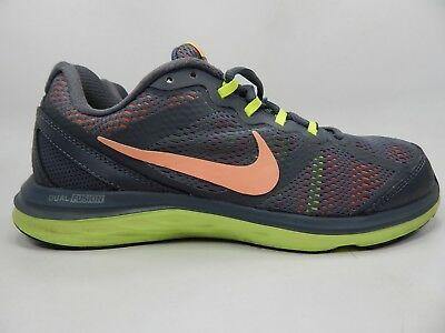 WOMENS NIKE DUAL FUSION RUN 3 Anthracite Running Trainers 653594 003 ... b438a7943
