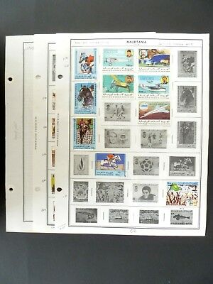Mauritania 36 Postage Stamps on Album Pages MH & Used - See Description & Images