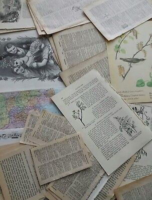 Vintage Craft Papers Old Book Pages Map Dictionary Music Scrapbooking Journal