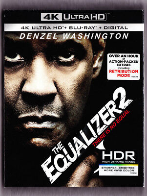 The Equalizer 2 4K Blu-ray Digital Slipcover Brand NEW FREE~First Class Ship!
