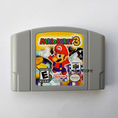 Nintendo N64 Game Mario Party 3 Video Game Cartridge Console Card US/CAN Version