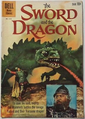 THE SWORD AND THE DRAGON (Movie) Four Color 1118 1960 Dell Comics FR/GD