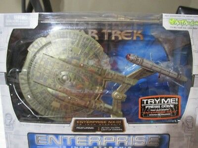 "Art Asylum Star Trek 12"" Enterprise NX-01 Starship With lights and sound Boxed"