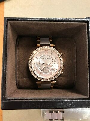 Michael Kors MK5896 Women's Parker Rose Gold Blush Crystal Set Watch MK-5896