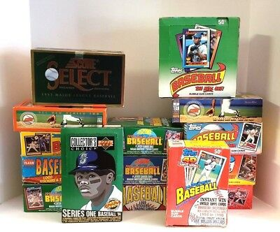 Old Baseball Cards Unopened Packs from Wax Box Vintage 300 Card Lot