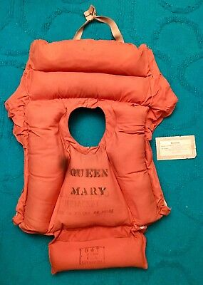 RMS Queen Mary Original Life Jacket