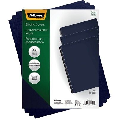 Fellowes, Inc. 5224801  Binding Covers Futura Navy Oversize 25Pk,dds Must Be ...