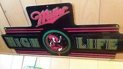 Miller light metal bar sign