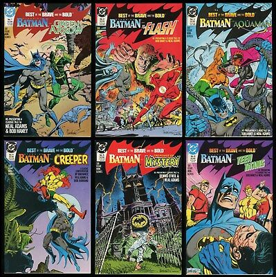 Best of the Brave and the Bold Comic Set 1-2-3-4-5-6 Lot Batman Flash Creeper
