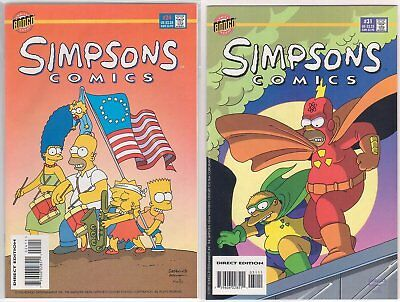 Simpsons Comic #24 & 31 (1996/97 US Comic) - NM