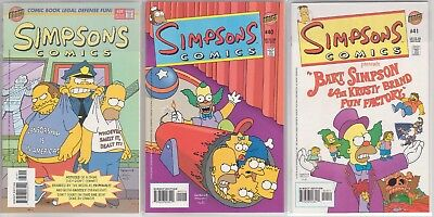 Simpsons Comics #39, 40 & 41 (1998 US Comics) - NM