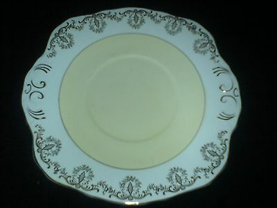 ROYAL SUTHERLAND Yellow /Gold Bone China Cake/Sandwich Plate 9 inch