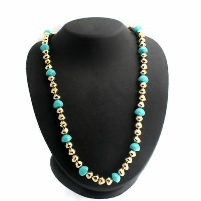 "QVC Francesca Visconti'S Gold Finish Baroque Bead 24"" Necklace $108"