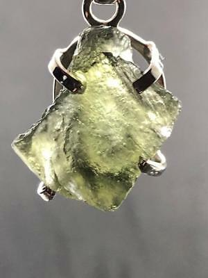 Moldavite Sterling Silver Pendant ~ High Vibration~Transformational Stone ~4gm