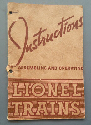 Vintage Instructions for Assembling and Operating Lionel Trains - Copyright 1940