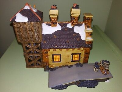 "Dept. 56 Dickens Village :The Locomotive Shed &  Water Tower"" Porcelain/Lighted"