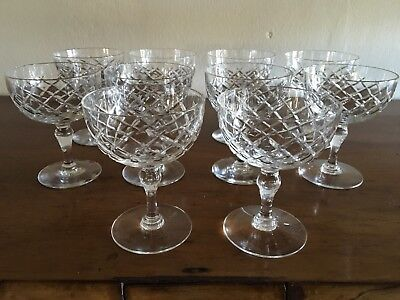 Set Of 10 Webb Corbett  Crystal Champagne Bowls