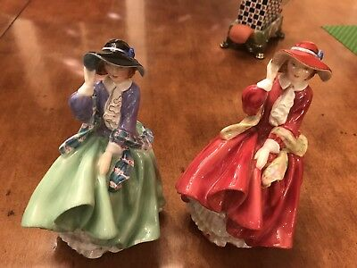 "Royal Doulton Figurines HN1834 And HN 1833 ""Top of the Hill"""