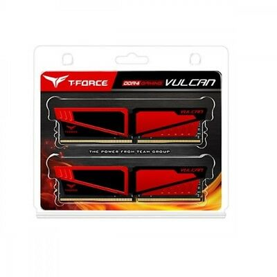 TEAMGROUP T-Force Vulcan DDR4 16 GB (2x8GB) 2400MHz (PC4-19200) CL16 Desktop RAM