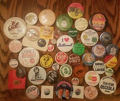 VINTAGE LOT of POLITICAL alcohol others CAMPAIGN PIN BACK BUTTONS  Nixon Clinton
